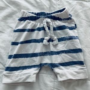 Other - Baby Size 6-12 mths blue/cream shorts from Etsy.